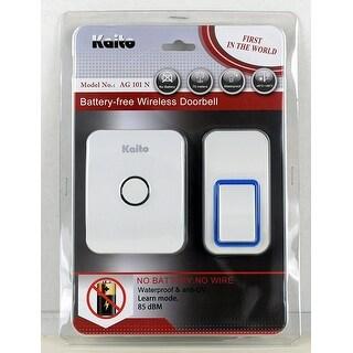 Kaito Wireless Doorbell No Battery Needed, with 25 Ring Tones, Waterproof