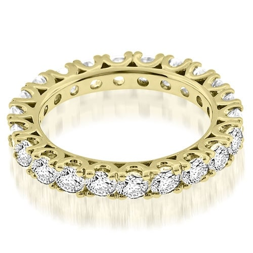 2.20 cttw. 14K Yellow Gold Classic U-Prong Round Diamond Eternity Band Ring