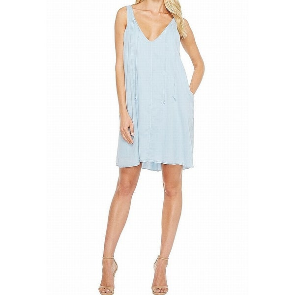 Shop Heather Womens Dress Baby Blue Size Xl Shift V Neck