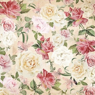"Mademoiselle Double-Sided Cardstock 12""X12""-Floral Spray"