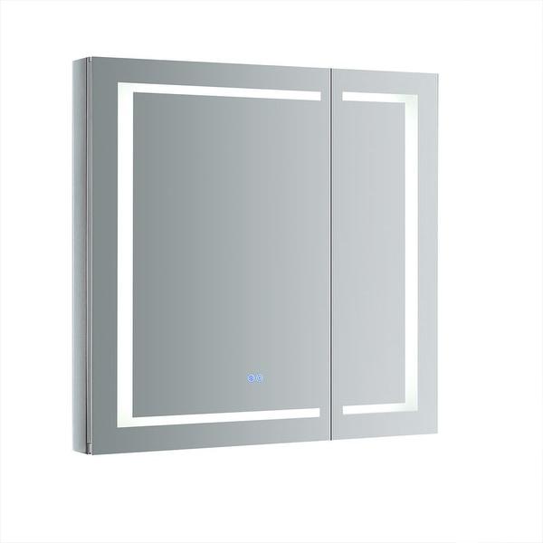 "Fresca FMC023636 Luminosa 36"" x 36"" Lighted Frameless Medicine Cabinet with 4 Shelves and Defogger - Mirror"