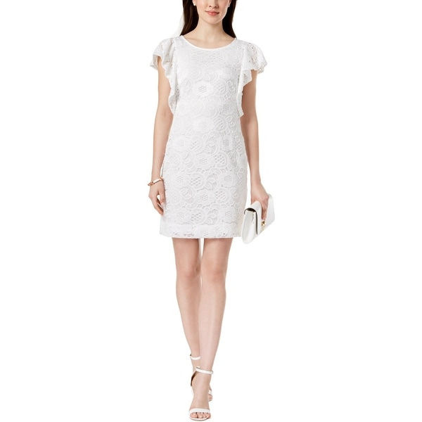 Shop Signature By Robbie Bee Womens Petites Cocktail Dress Lace Mini - Free  Shipping On Orders Over  45 - Overstock - 27758535 596627621