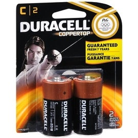 Duracell Coppertop C Alkaline Batteries 1.5 Volt 2 Each