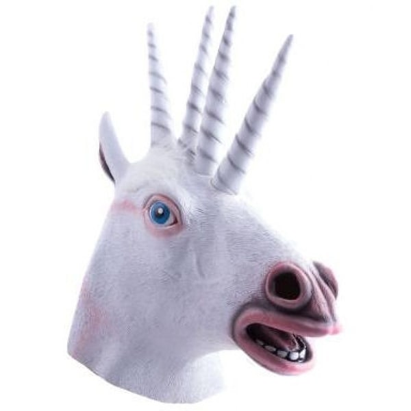 Quadricorn Adult Costume Mask - White