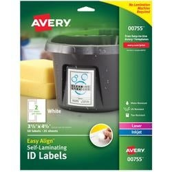 "3.5""X4.5"" 50/Pkg - Easy Align Self-Laminating Id Labels"