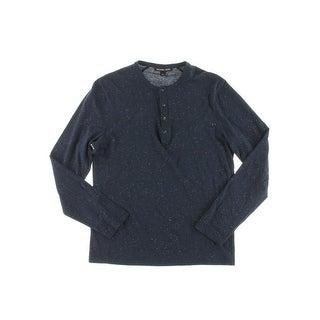 Michael Kors Mens Jasper Henley Shirt Cotton Speckled (2 options available)