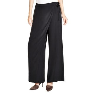Eileen Fisher Womens Sarong Wide Leg Pants Silk Asymmetric