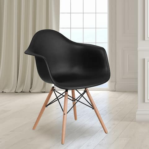 Plastic Mid-century Modern Tapered Arm Chair