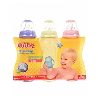 Nuby Standard Neck Non-Drip 10-oz Bottles|https://ak1.ostkcdn.com/images/products/is/images/direct/1608fcf2b7573ff95814835552b42f648f6999f0/Nuby-Standard-Neck-Non-Drip-10-oz-Bottles.jpg?impolicy=medium