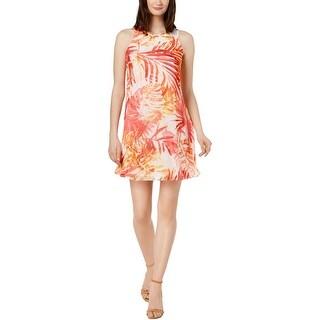 Calvin Klein Womens Petites Mini Dress Printed Sleeveless