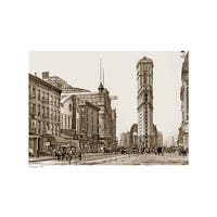 ''Times Square, 1904 (sepia)'' by Anon New York Art Print (13 x 19 in.)