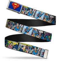Superman Fcg Blue  Chrome Superman Comic Panels Webbing Web Belt