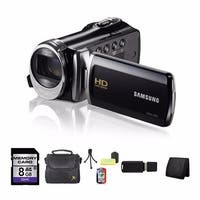 Samsung HMX-F90 High Definition Black Camcorder 8GB Bundle