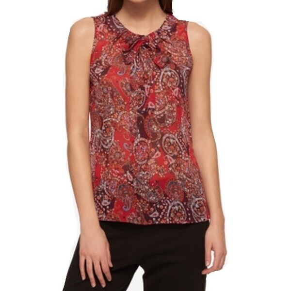 02ebcb1973c3ab Shop Tommy Hilfiger NEW Red Womens Size Medium M Damask Print Tank Top -  Free Shipping On Orders Over $45 - Overstock - 21319167