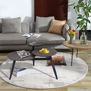 Link to Carbon Loft Searz Coffee Table with Three Multi Round Nesting Side Table Similar Items in Living Room Furniture