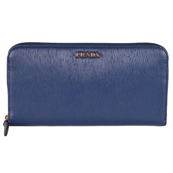 new product e1f2a 45342 Shop Prada Women's 1ML506 2BNC Blue Saffiano Leather Zip ...