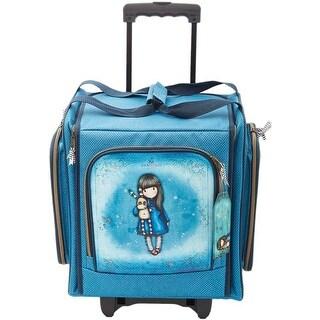 Blue Nylon Canvas - Santoro's Gorjuss Wheelable Craft Tote
