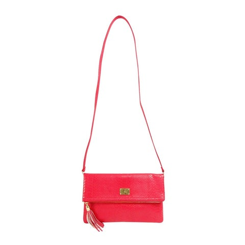 INC International Concepts Frita Convertible Clutch, Cross Red Snake - red snake - One size
