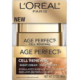 L'Oreal Paris Age Perfect Cell Renewal Night Cream Moisturizer 1.7 oz