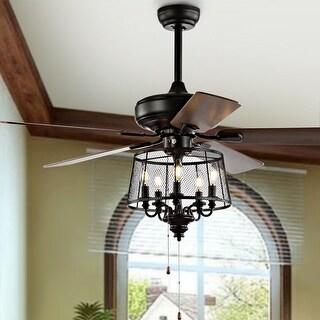 "Safavieh Lighting 52-Inch Jonie Ceiling Light Fan - 52"" W x 52"" L x 32"" H"
