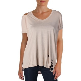 Michelle by Comune Womens Gunter Casual Top Destroyed Ripped