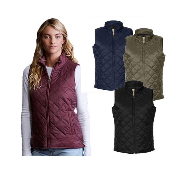 Weatherproof Women's Vintage Diamond Quilted Vest. Opens flyout.