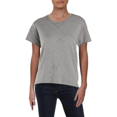 ATM Womens Sweatshirt Heathered Short Sleeves - M