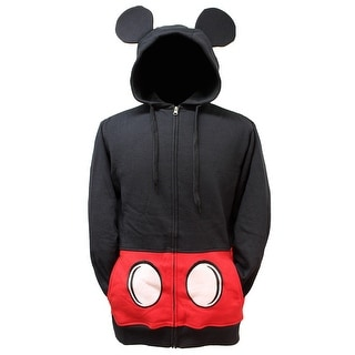 Disney Men's Mickey Mouse Suit Up Costume Hoodie, Black
