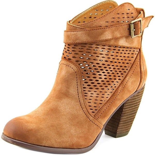 Not Rated Macy Women Round Toe Synthetic Ankle Boot