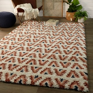 Link to Hadley Geometric Moroccan Shag Berber Area Rug Similar Items in Shag Rugs