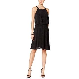 MSK Womens Casual Dress Glittery Popover