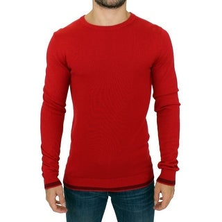 Costume National Costume National Red crewneck wool sweater