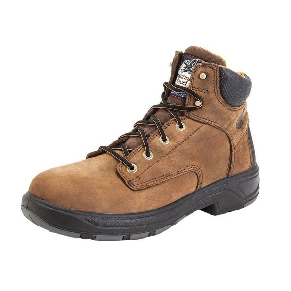 "Georgia Boot Work Mens 6"" Flxpoint Waterproof Leather Brown"
