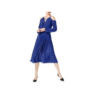 MICHAEL Michael Kors Womens Clubwear Dress Embellished Cold Shoulder