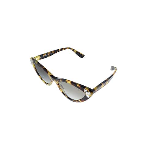 Miu Miu MU 01VS 1565O0 Womens Tort Frame Grey Mirror Lens Sunglasses