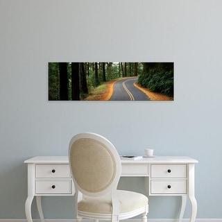 Easy Art Prints Panoramic Images's 'USA , California, Marin County, road' Premium Canvas Art