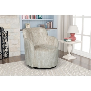 Link to Ela Upholstered Swivel Barrel Armchair Similar Items in Accent Chairs