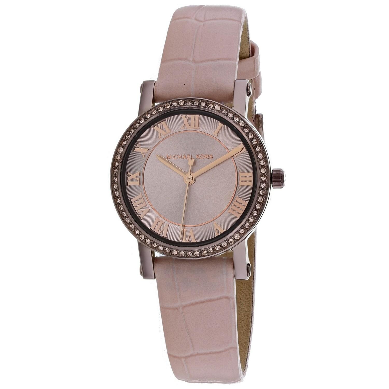Michael Kors Womens Norie Rose Gold Dial Watch