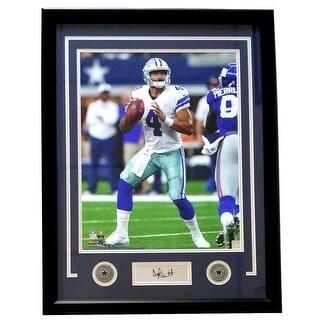 1d7e59817 Shop Dak Prescott Framed 16x20 Dallas Cowboys Photo Laser Engraved  Signature - Free Shipping Today - Overstock.com - 20784896