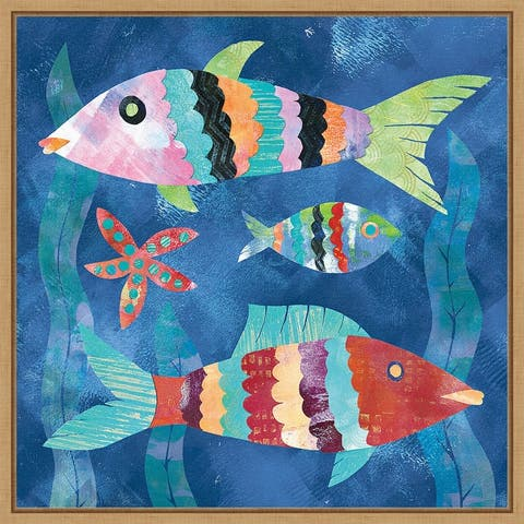 Boho Reef Fish I by Wild Apple Portfolio Framed Canvas Art