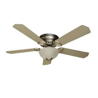 "Craftmade K10777 Universal Hugger 52"" 5 Blade Energy Star Flush Mount Indoor Ceiling Fan - Blades and Light Kit Included"