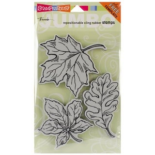 """Stampendous Cling Stamps 5""""X7""""-Leaves"""
