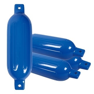 Costway 4 Ribbed Marine 6.5''X 23''Boat Fender Vinyl Bumper Dock Shield Protection Blue