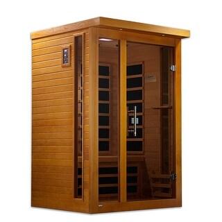 Dynamic DYN-6215-01 2-person Far Infrared Natural Hemlock Wood Vienna Sauna - White