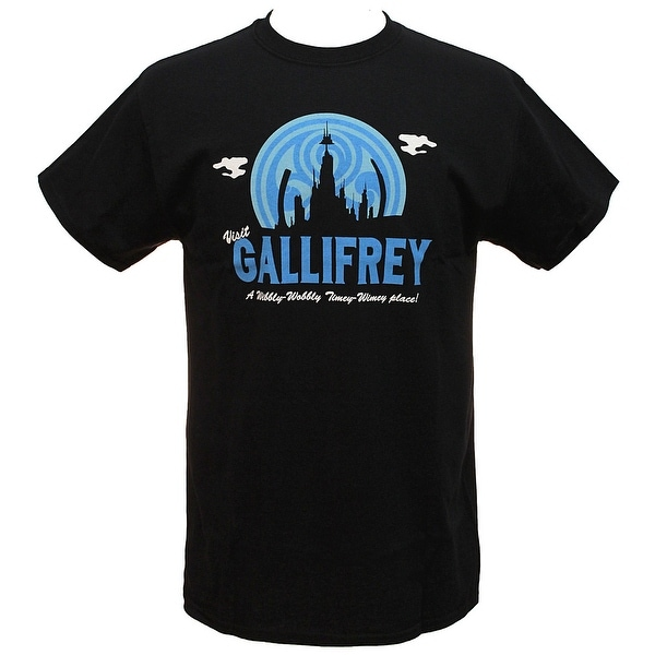 b6ad4eb69 Doctor Who Mens Visit Gallifrey A Wibbly-Wobbly Timey-Wimey Place! T-
