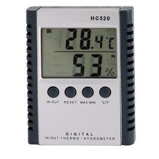 Indoor Outdoor Temperature Humidity Digital Meter Thermometer