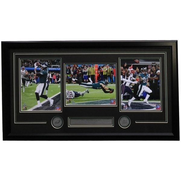 e6b1771f6e4 Foles Ertz Clement Framed Philadelphia Eagles Super Bowl LII Moments Collage