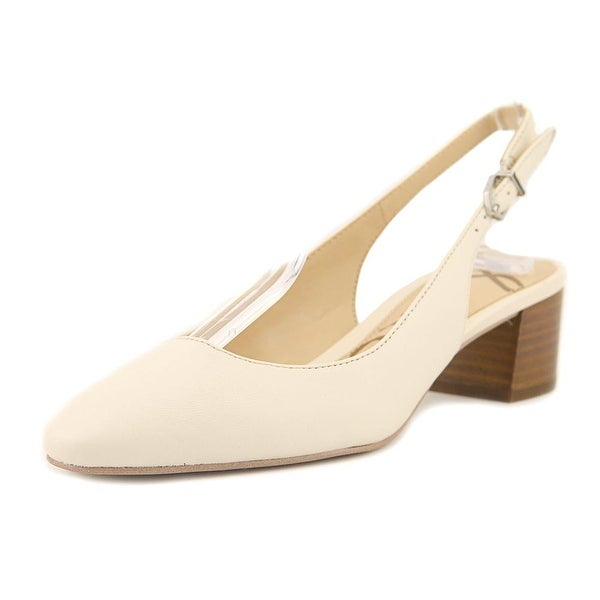 703e28ed333 Shop Sam Edelman Lorene Women Round Toe Leather Ivory Slingback Heel ...
