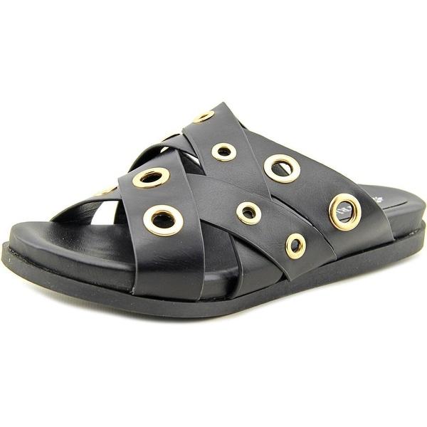 Patrizia By Spring Step Olavi Women Open Toe Synthetic Black Slides Sandal