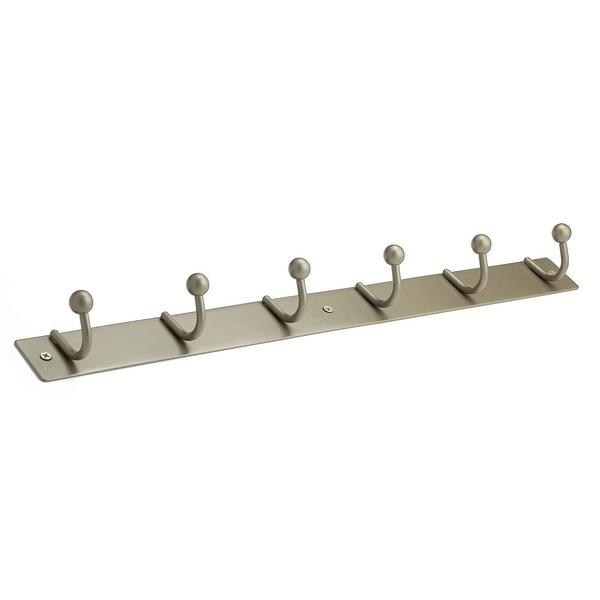 Richelieu T16921184 19-11/16 Inch Wide 6 Hook Metal Coat Rack